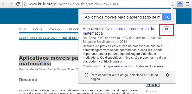 Botão do Google Acadêmico