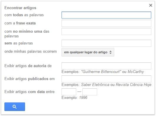 Pesquisa avançada Google Acadêmico
