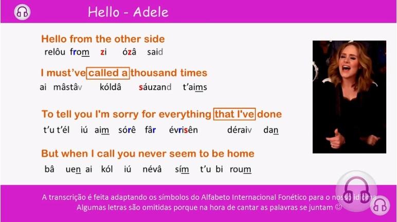 Aprenda inglês cantando