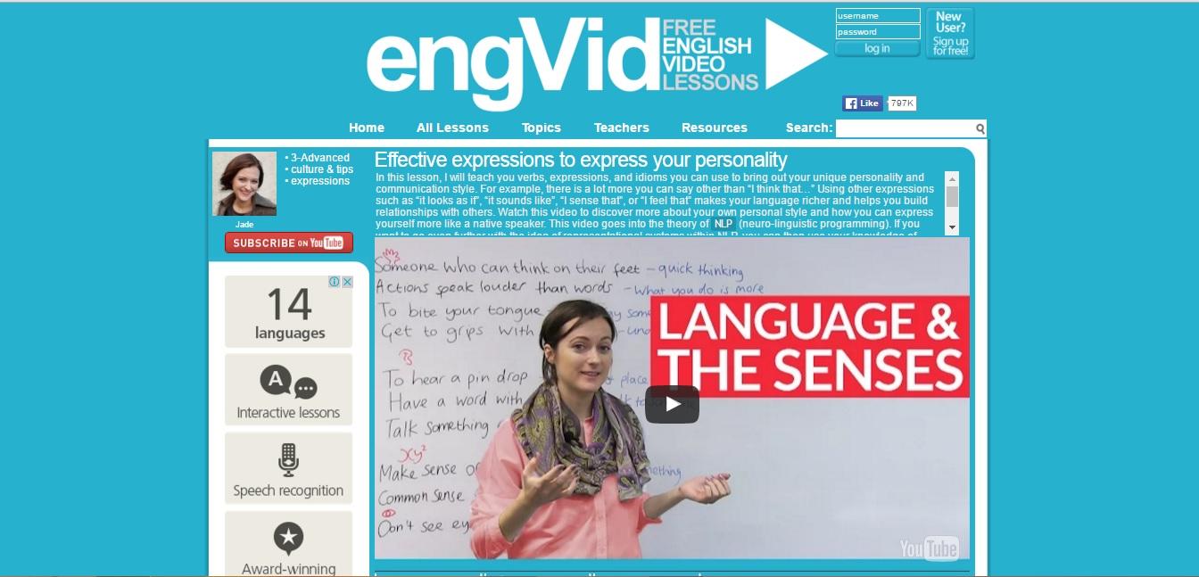 Acesse gratuitamente video aulas com professores de inglês nativos